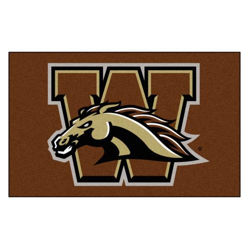 4.9' x 7.8' Brown NCAA Western Michigan University Broncos Rectangular Area Rug - IMAGE 1