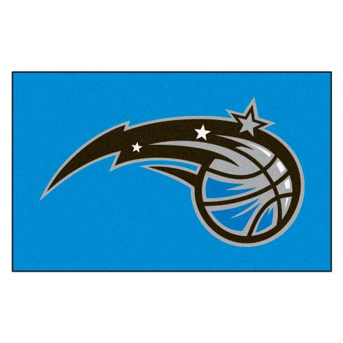 """59.5"""" x 94.5"""" Blue and Black NBA Orlando Magic Ulti-Mat Rectangular Outdoor Area Rug - IMAGE 1"""