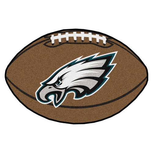"""20.5"""" x 32.5"""" Brown and White NFL Philadelphia Eagles Oval Mat - IMAGE 1"""