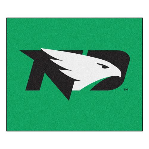 "59.5"" x 71"" Green NCAA University of North Dakota Fighting Hawks Tailgater Mat Outdoor Area Rug - IMAGE 1"