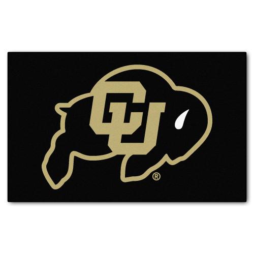 "59.5"" x 94.5"" Black NCAA University of Colorado Buffaloes Mat Area Rug - IMAGE 1"