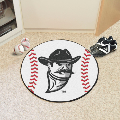 27 White Black Contemporary Ncaa New Mexico State University Aggies Baseball Round Mat Christmas Central
