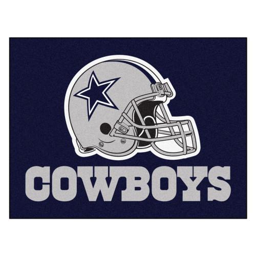 "33.75"" x 42.5"" Blue and Gray NFL Dallas Cowboys All Star Rectangular Door Mat - IMAGE 1"