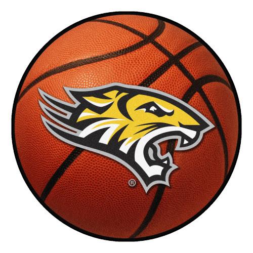 "27"" Orange and Yellow NCAA Towson University Tigers Basketball Mat - IMAGE 1"