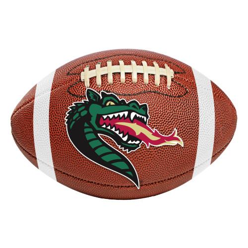 "20.5"" x 32.5"" Brown and Green NCAA University of Alabama Football Shaped Mat Area Rug - IMAGE 1"