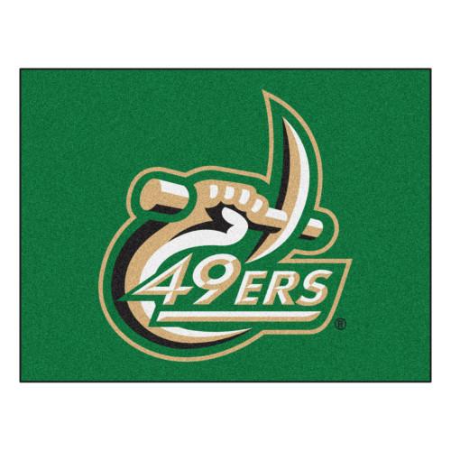 "33.75"" x 42.5"" Green and White NCAA Charlotte 49ers All Star Non-Skid Mat Rectangular Rug - IMAGE 1"