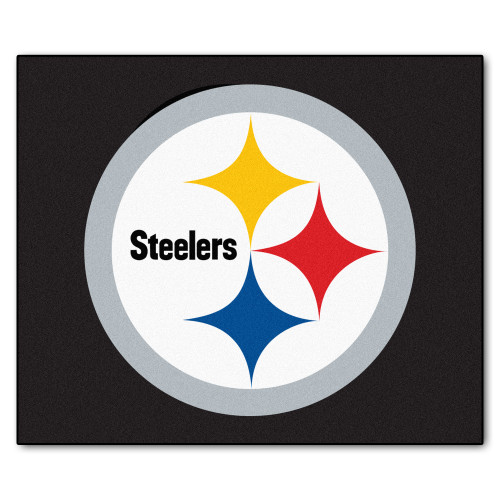 NFL Pittsburgh Steelers Tailgater Mat Rectangular Outdoor Area Rug - IMAGE 1