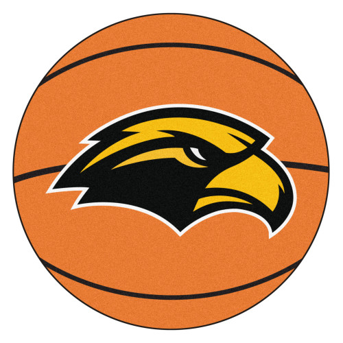 """27""""  Brown and Black NCAA University of Southern Mississippi Southern Miss Golden Eagles Round Mat - IMAGE 1"""