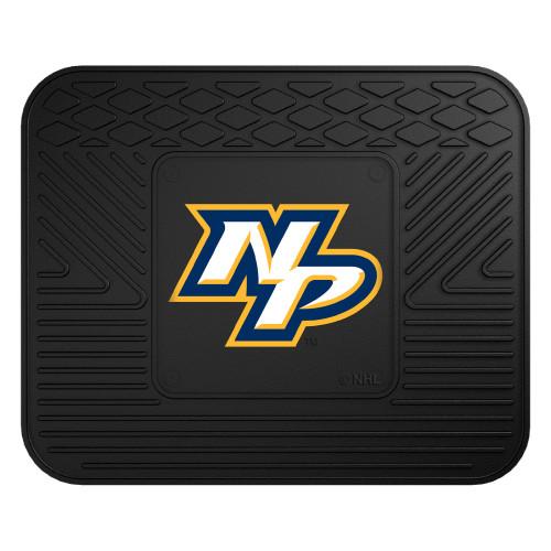 "14"" x 17"" Black and White NHL Nashville Predators Heavy Duty Rear Car Seat Utility Mat - IMAGE 1"