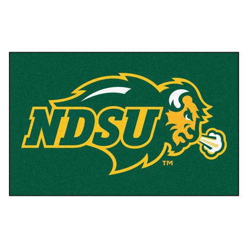 "59.5"" x 94.5"" Green and Yellow NCAA North Dakota State University Bison Tailgater Area Rug - IMAGE 1"