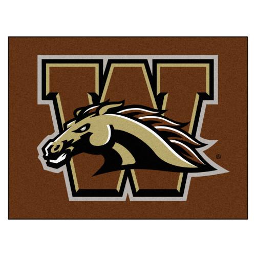 "33.75"" x 42.5"" Brown NCAA Western Michigan University Broncos Rectangular Mat Area Rug - IMAGE 1"