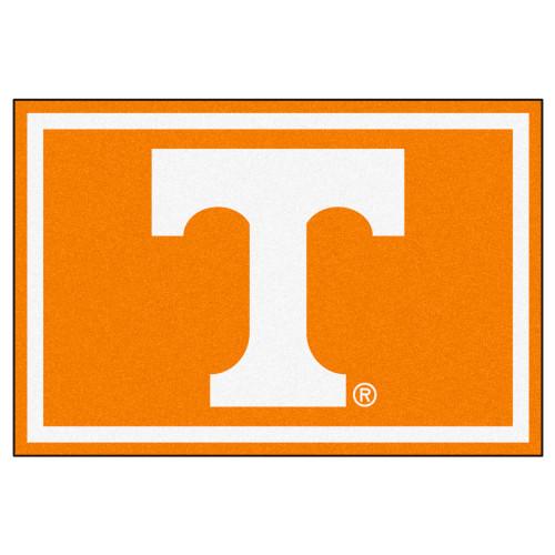 4.9' x 7.3' Orange and White NCAA University of Tennessee Volunteers Plush Non-Skid Area Rug - IMAGE 1