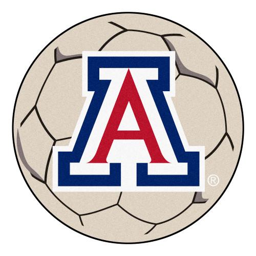 NCAA University of Arizona Wildcats Soccer Ball Mat Round Area Rug - IMAGE 1