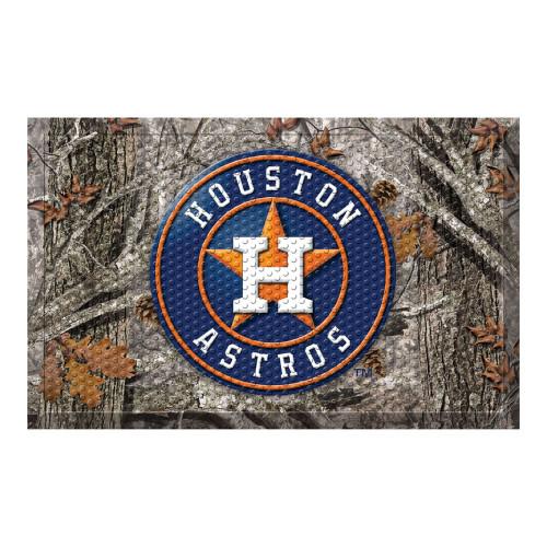 "Navy Blue and Gray MLB Houston Astros Shoe Scraper Doormat 19"" x 30"" - IMAGE 1"