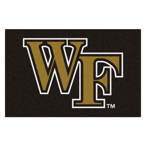 """19"""" x 30"""" Black and Brown NCAA Wake Forest University Demon Deacons Starter Mat - IMAGE 1"""
