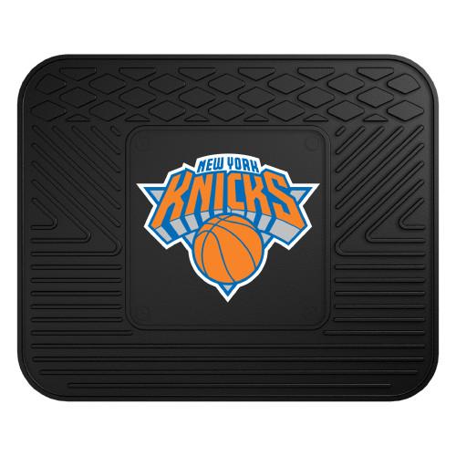 "14"" x 17"" Black and Blue NBA New York Knicks Heavy Duty Rear Car Seat Utility Mat - IMAGE 1"