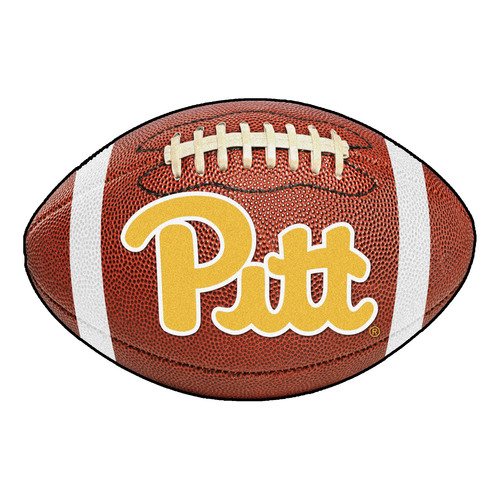 """32.5"""" Brown and Yellow NCAA University of Pittsburgh Panthers Football Door Mat - IMAGE 1"""