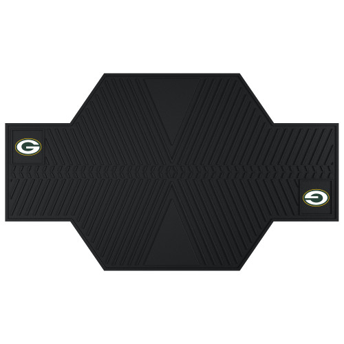 "42"" x 82.5"" Black NFL Green Bay Packers Motorcycle Parking Mat Accessory - IMAGE 1"