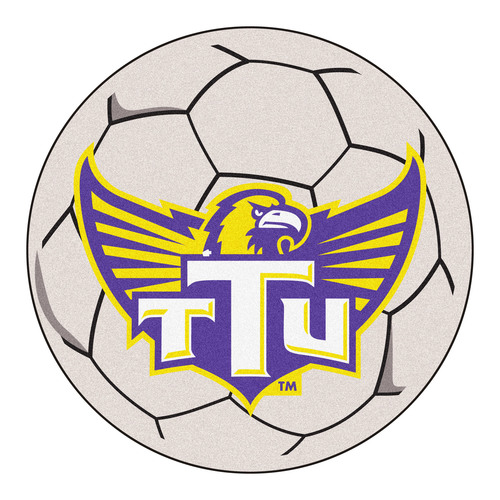 "27"" Gray NCAA Tennessee Technological University Golden Eagles Soccer Ball Door Mat - IMAGE 1"
