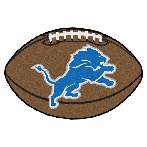 "20.5"" x 32.5"" Brown and Blue NFL Detroit Lions Football Shape Mat - IMAGE 1"