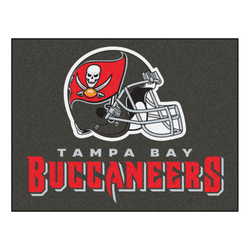 """33.75"""" x 42.5"""" Gray and Red NFL Tampa Bay Buccaneers Rectangular Mat - IMAGE 1"""