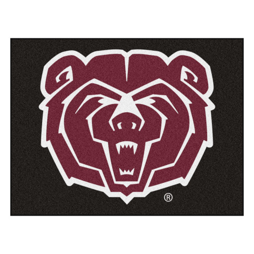 """33.75"""" x 42.5"""" Black and Red NCAA Missouri State Bears All Star Mat Area Rug - IMAGE 1"""