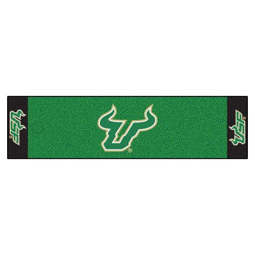 """18"""" x 72"""" Green NCAA University of South Florida Bulls Putting Golf Mat - IMAGE 1"""