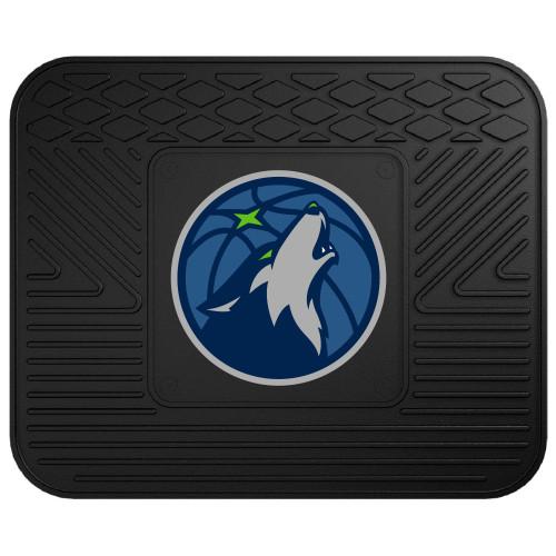 "14"" x 17"" Black and Blue NBA Minnesota Timberwolves Heavy Duty Rear Car Seat Utility Mat - IMAGE 1"