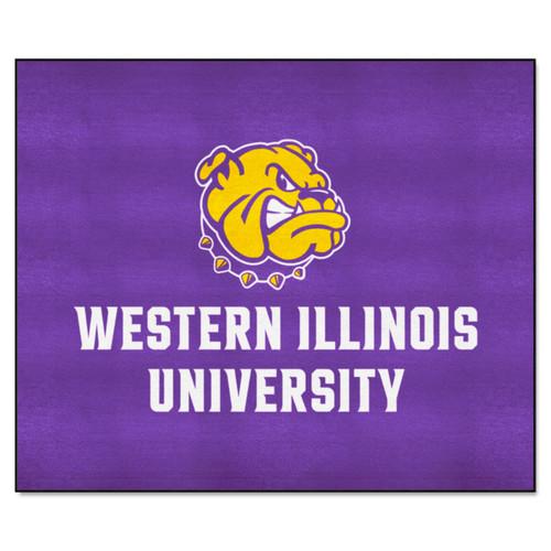 "59.5"" x 71"" Black NCAA Western Illinois University Leathernecks Tailgater Mat - IMAGE 1"