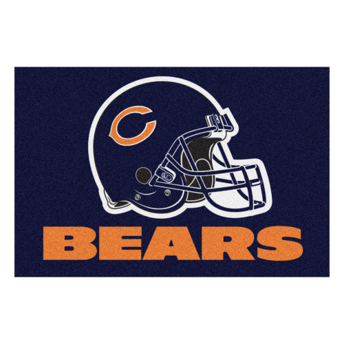 "19"" x 30"" Blue and Orange NFL Chicago Bears Starter Rectangular Door Mat - IMAGE 1"