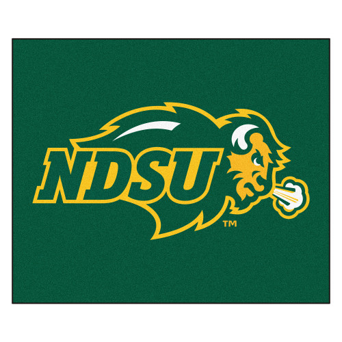 5' x 6' Green and Yellow NCAA Bison Thundering Herd Tailgater Mat Rectangular Outdoor Area Rug - IMAGE 1