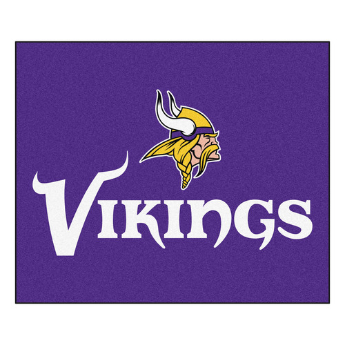 "59.5"" x 71"" Purple and Yellow NFL Minnesota Vikings Rectangular Tailgater Mat - IMAGE 1"