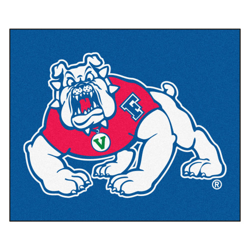 """59.5"""" x 94.5"""" Blue and White NCAA Fresno State Bulldogs Rectangular Outdoor Tailgater Mat - IMAGE 1"""