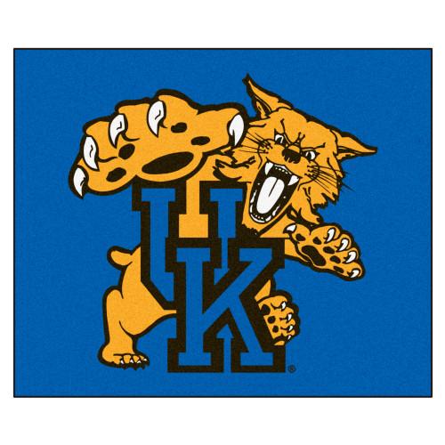 "59.5"" x 71"" Blue and White NCAA University of Kentucky Wildcats Rectangular Outdoor Tailgater Mat - IMAGE 1"