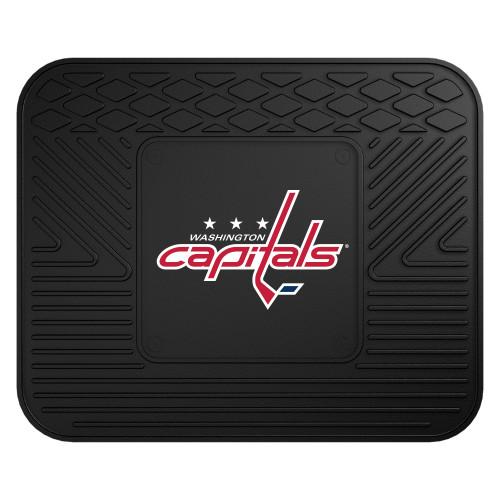 "14"" x 17"" Black and Red NHL Washington Capitals Rear Car Seat Utility Mat - IMAGE 1"