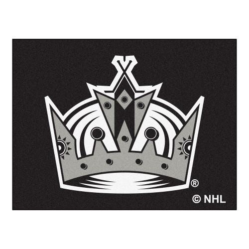 "33.75"" x 42.5"" Gray NHL Los Angeles Kings Starter Mat Rectangular Area Rug - IMAGE 1"