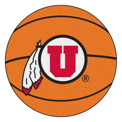 "27"" Brown and Red NCAA University of Utah Utes Mat - IMAGE 1"