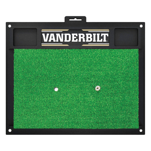 "17"" x 20"" Green NCAA Vanderbilt University Commodores Golf Hitting Mat Practice Accessory - IMAGE 1"