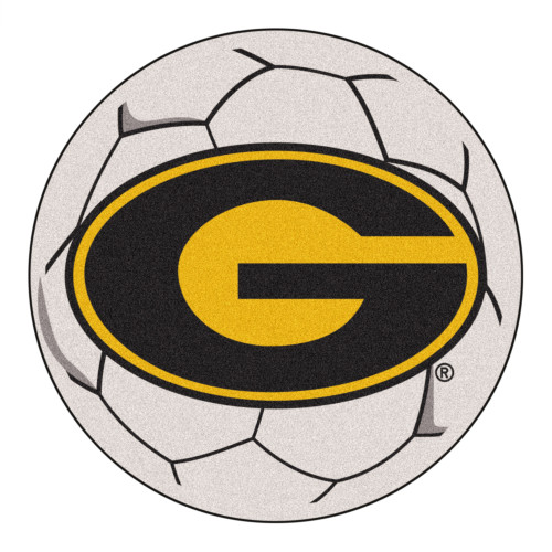 "27"" Gray NCAA Grambling State University Tigers Soccer Ball Round Mat - IMAGE 1"