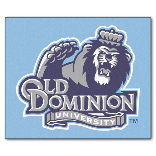 "59.5"" x 71"" Blue NCAA Old Dominion University Monarchs Tailgater Mat Rectangular Outdoor Area Rug - IMAGE 1"