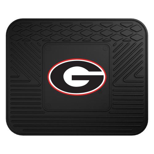 "17""x14"" NCAA University of Georgia Bulldogs Black Heavy Duty Rear Car Seat Utility Mat - IMAGE 1"
