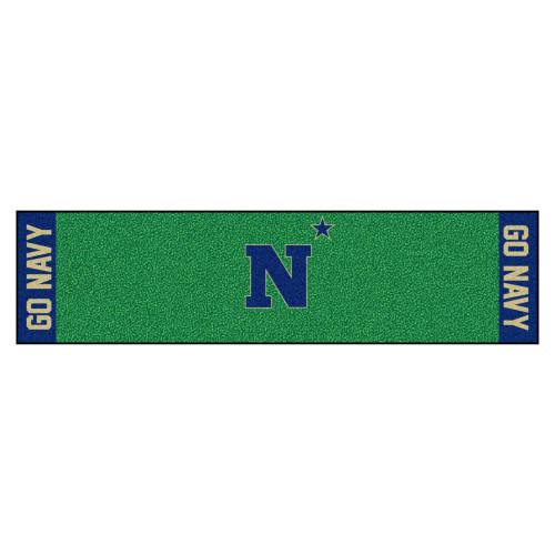 "18"" x 72"" Green and Blue U.S. Naval Academy Golf Putting Mat - IMAGE 1"