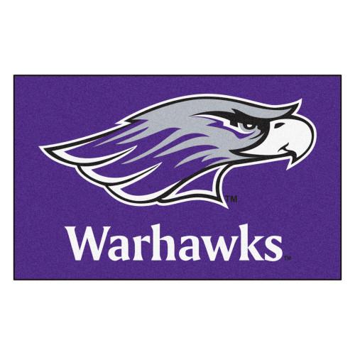 "59.5"" x 94.5"" Purple and White NCAA University of Wisconsin-Whitewater Warhawks Ultility Mat - IMAGE 1"