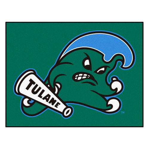 "33.75"" x 42.5"" Green Wave NCAA Tulane University All Star Non-Skid Mat Rectangular Area Rug - IMAGE 1"