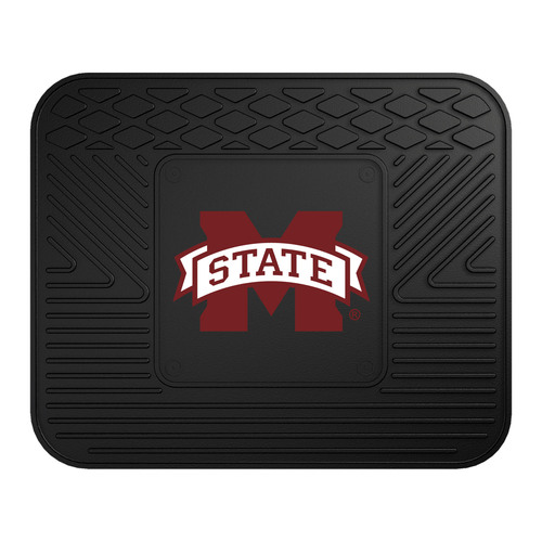 "17"" NCAA Mississippi State University Bulldogs Heavy Duty Rear Car Seat Utility Mat - IMAGE 1"