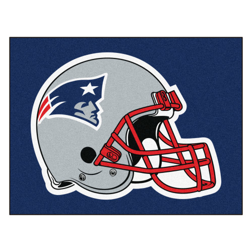"""59.5"""" x 71"""" Blue and Red NFL New England Patriots Rectangular Tailgater Mat - IMAGE 1"""
