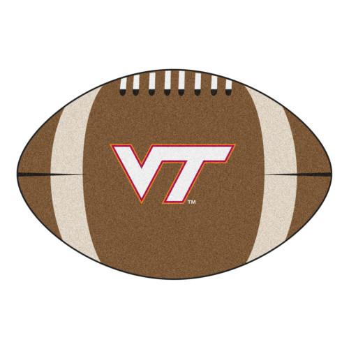 "20.5"" x 32.5"" Brown NCAA Virginia Tech Hokies Football Mat - IMAGE 1"