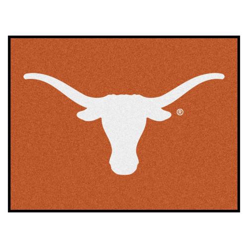 "33.75"" x 42.5"" Orange and White NCAA University of Texas Longhorns Rectangular Area Rug - IMAGE 1"