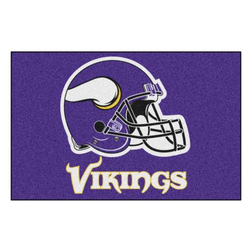"19"" x 30"" Purple and White NFL Minnesota Vikings Rectangular Starter Mat - IMAGE 1"