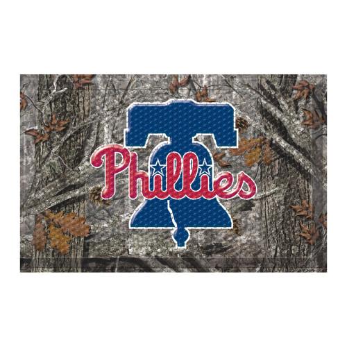 """Red and Gray MLB Philadelphia Phillies Shoe Scraper Doormat 19"""" x 30"""" - IMAGE 1"""